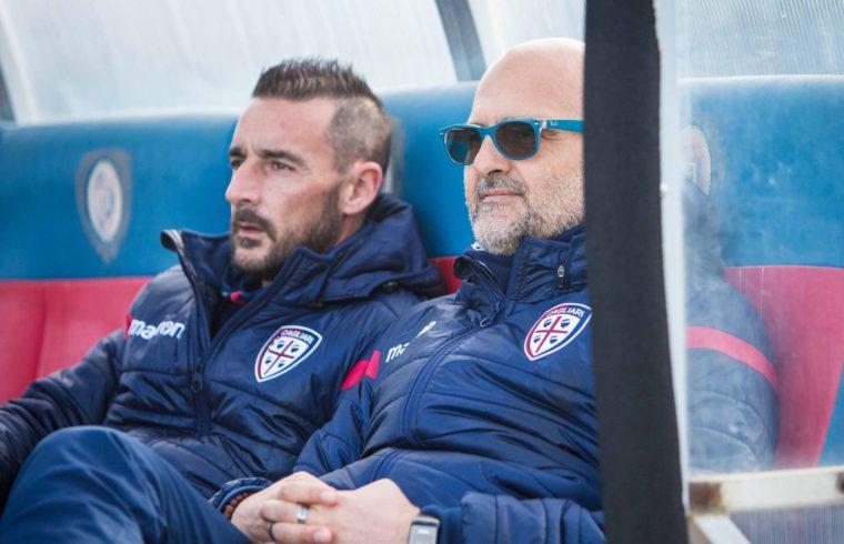 Max Canzi e Alessandro Agostini sulla panchina del Cagliari
