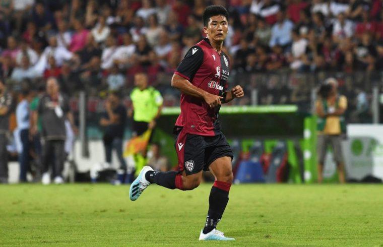 Han Kwang Song in una delle sue ultime apparizioni con la maglia del Cagliari