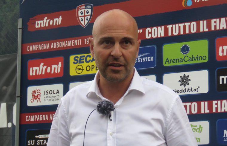 Il presidente del Cagliari Tommaso Giulini in primo piano