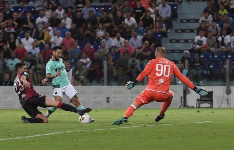 Robin Olsen contro l'Inter