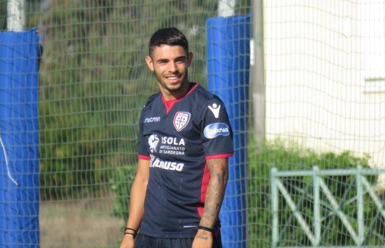 Simone Pinna in maglia Cagliari