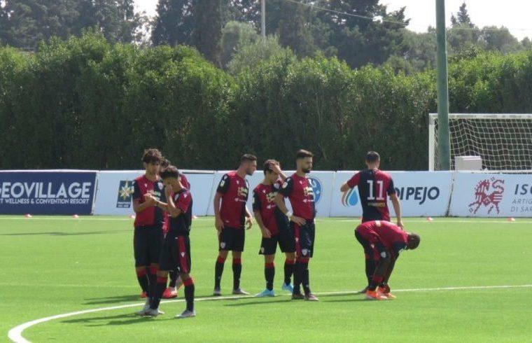 la Primavera del Cagliari in campo
