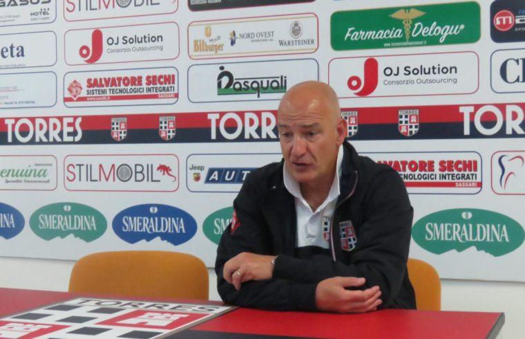 Marco Mariotti in sala stampa al Vanni Sanna