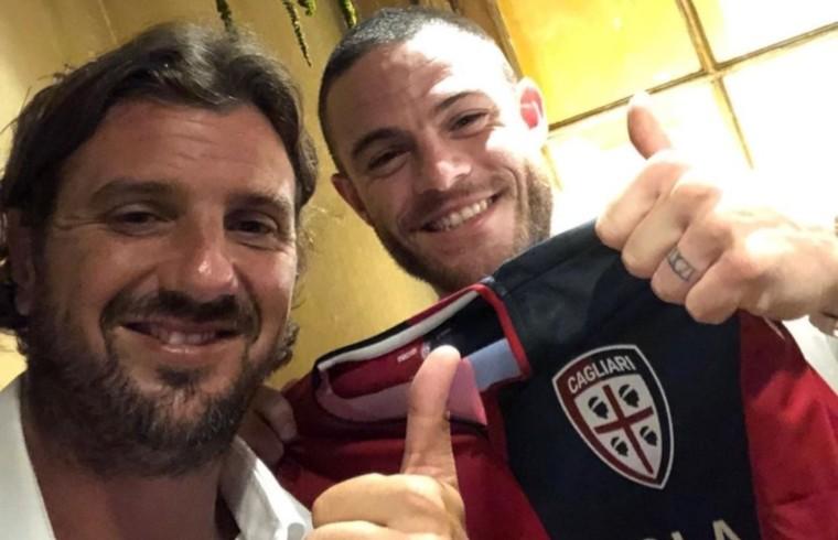 Davide Lippi e Nahitan Nandez la sera della firma del contratto