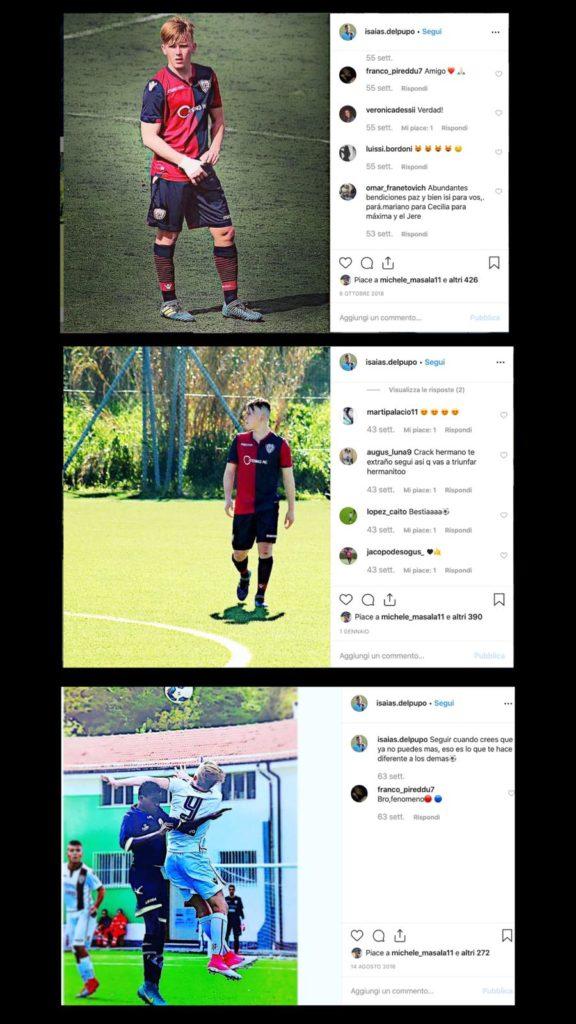 Alcune immagini di Isaias Del Pupo in maglia rossoblù