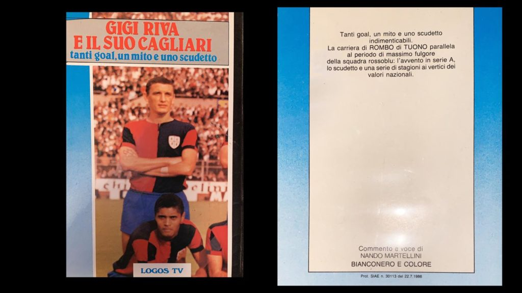 La copertina della Vhs dedicata a Gigi Riva