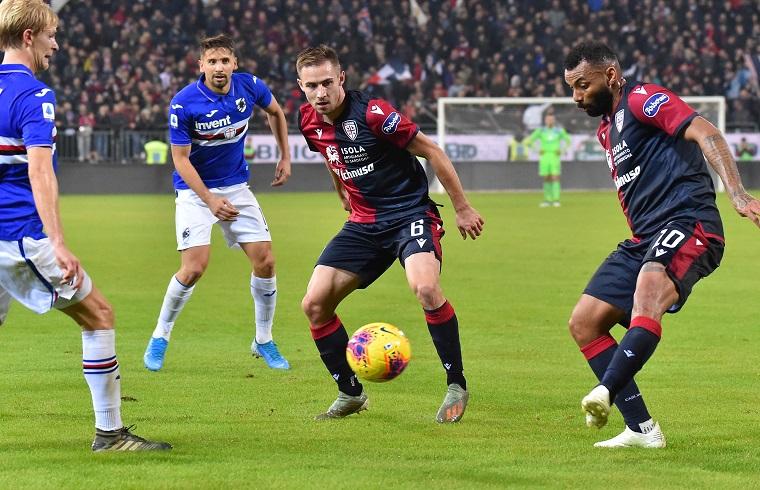 Rog in azione con la Sampdoria