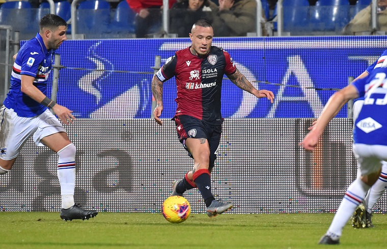 Radja Nainggolan del Cagliari Calcio contro la Samp