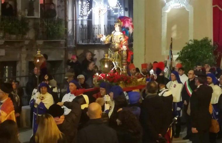 Un momento della processione di SantEfisio