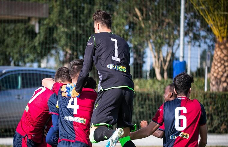 Un'esultanza della Primavera nella passata stagione| Foto Cagliari Calcio