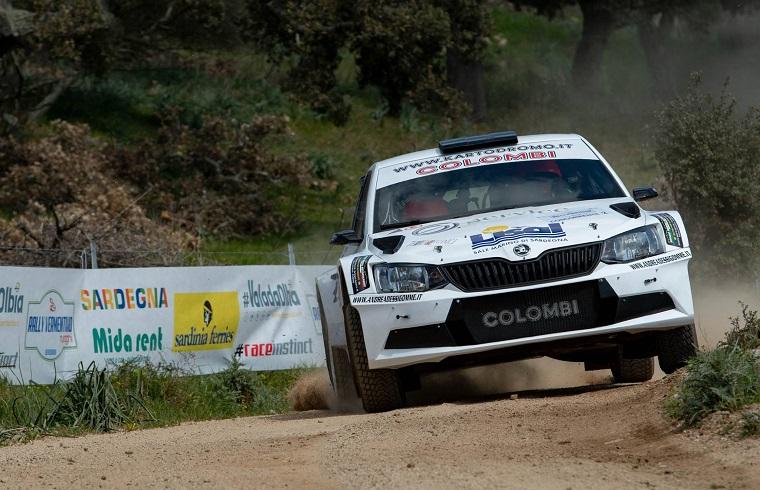 La Skoda di Auro Siddi nell'edizione 2019 del Rally del Vermentino | Foto Emanuele Perrone