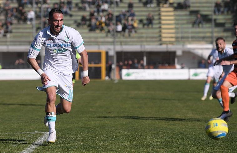 Andrea Cocco, attaccante dell''Olbia | Foto Emanuele Perrone