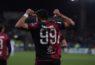 Giovanni Simeone esulta dopo un gol | Foto Emanuele Perrone