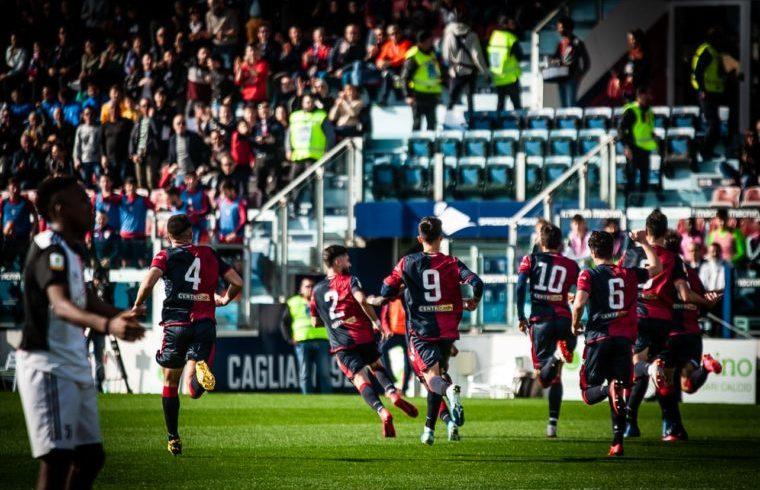 Primavera del Cagliari in azione