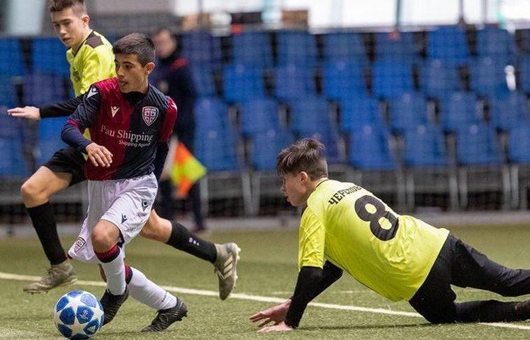 Un immagine del Cagliari Under 14 alla Minsk Cup 2020