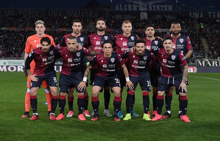 la formazione iniziale del Cagliari contro il parma