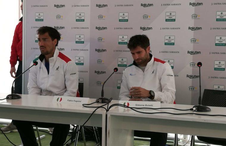 Fognini e Bolelli in conferenza stampa