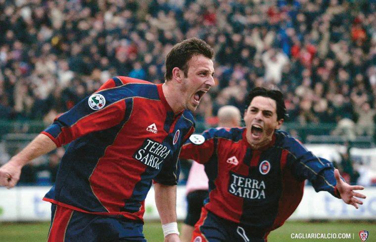Antonio Langella e Ciccio Esposito esultano dopo un gol | Foto Cagliari Calcio