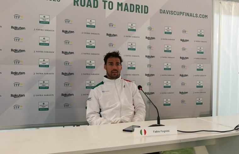 Fabio Fognini in conferenza stampa
