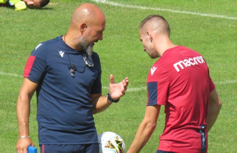 Roberto De Bellis a colloquio con Marko Rog, durante il ritiro di Pejo