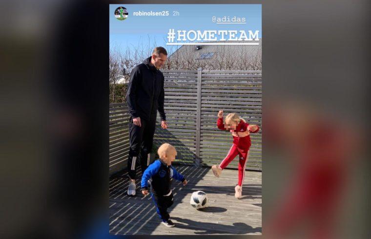 La storia Instagram di Robin Olsen
