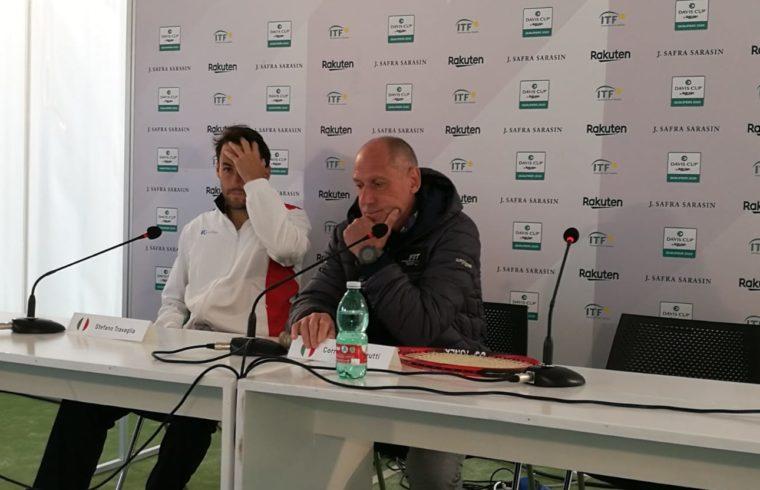 Stefano Travaglia e Corrado Barazzutti
