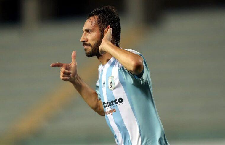 Matteo Mancosu esulta dopo un gol | Foto Virtus Entella