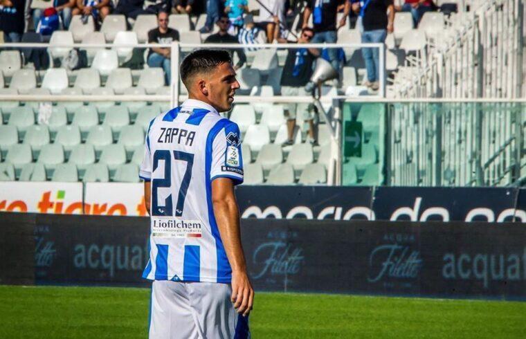 Gabriele Zappa con la maglia del Pescara