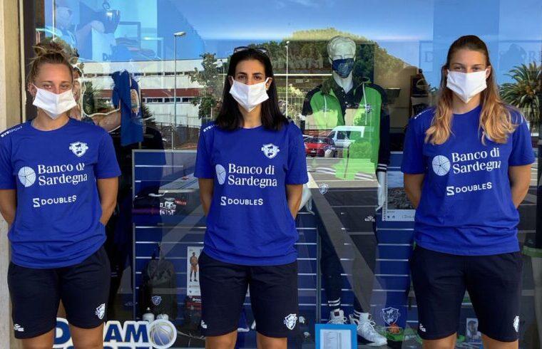 Delia Gagliano, Giovanna Pertile e Mickaela Feckete alla Club House | Foto Dinamo Sassari