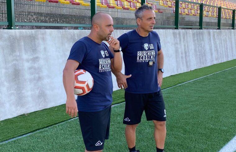 Raffaele Cerbone col vice | Foro Arzachena Calcio