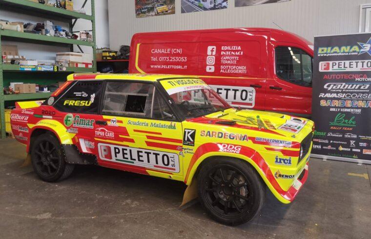 La 131 che verrà utilizzata da Diana e Fresu al Rally Legend