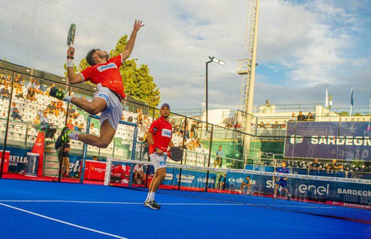 Un match degli ottavi del Sardegna Open | Foto World Padel Tour
