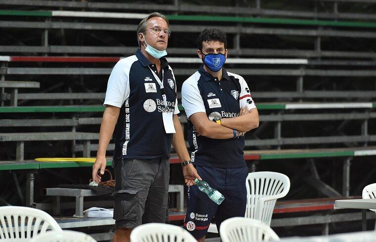 Federico Pasquini ed Edoardo Casalone, GM e assistant coach della Dinamo | Foto Luigi Canu