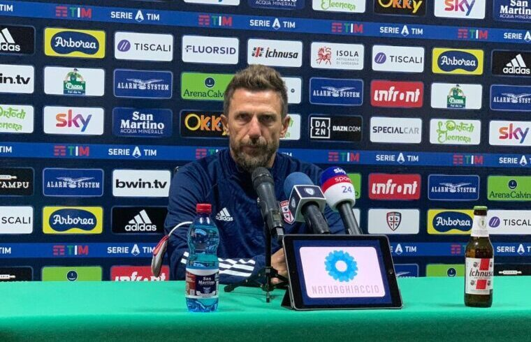 Eusebio Di Francesco in conferenza