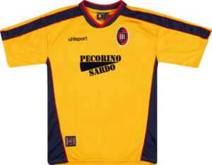 La maglia gialla del Cagliari del biennio 2000-2002