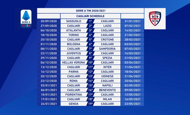Calendari Serie A, sarà subito Sassuolo Cagliari