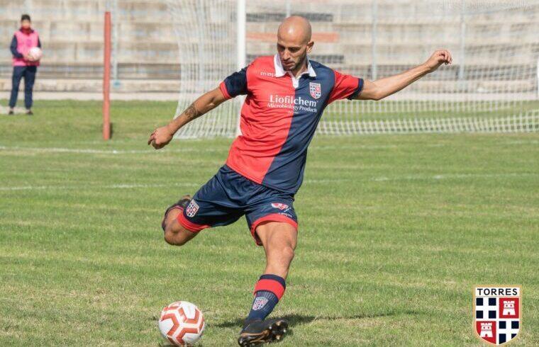Andrea Congiu, difensore della Torres | Foto Alessandro Sanna - Torres Calcio
