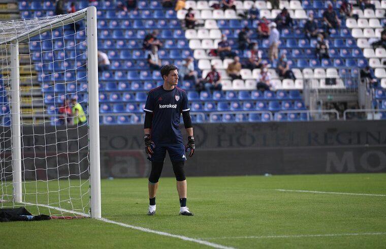 Alessio Cragno alla Sardegna Arena | Foto Emanuele Perrone