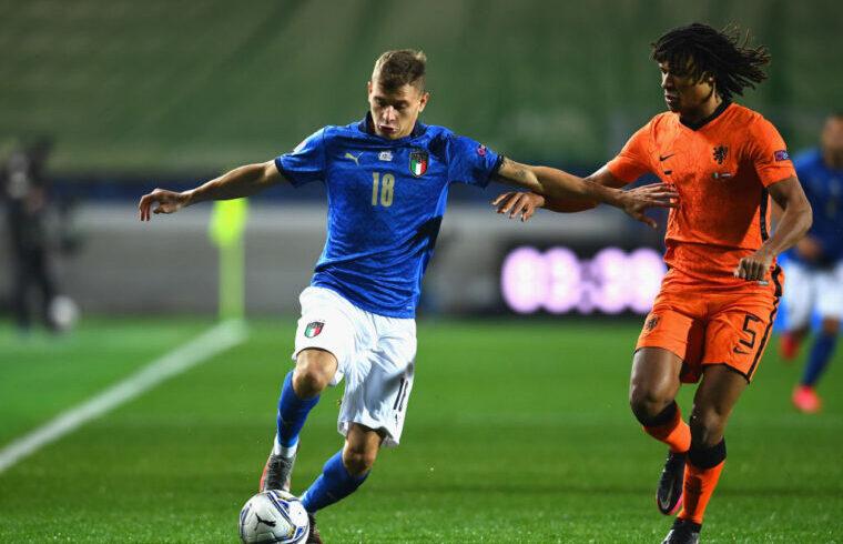 Nicolò Barella con la maglia della Nazionale