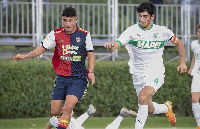 Michele Masala con il Cagliari Primavera