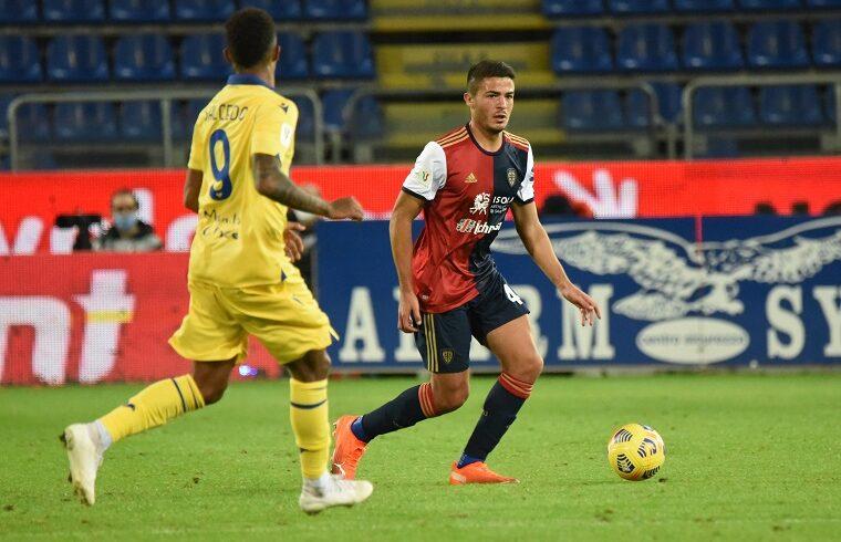 Andrea Carboni contro il Verona in Coppa Italia | Foto Alessandro Sanna