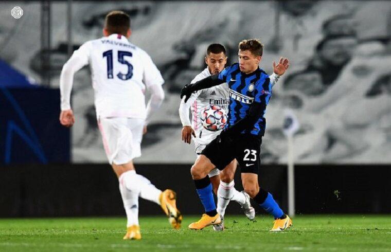 Nicolò Barella contro il Real Madrid | Foto Inter FC