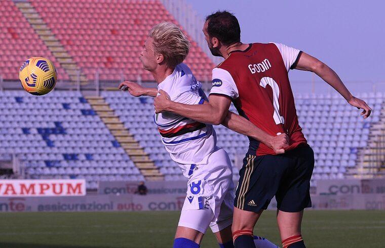 Diego Godin contro la Sampdoria | Foto Emanuele Perrone