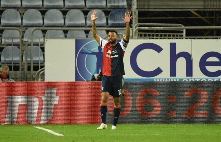 Joao Pedro esulta dopo un gol | Foto Alessandro Sanna