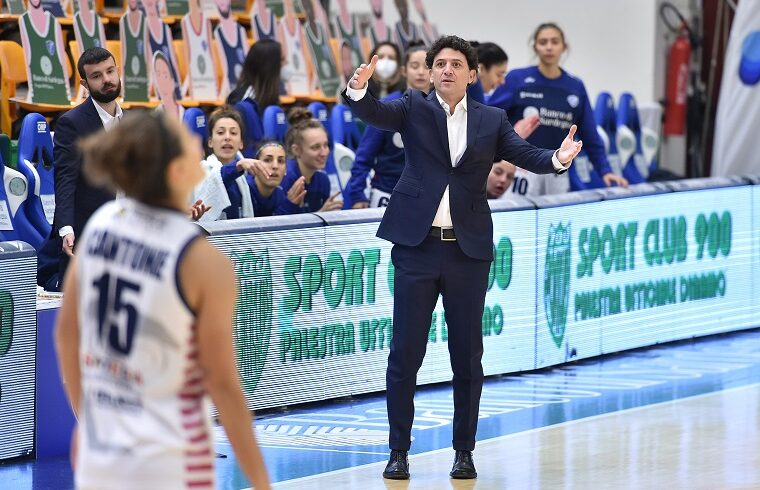 Antonello Restivo coach della Dinamo Sassari | Foto Luigi Canu