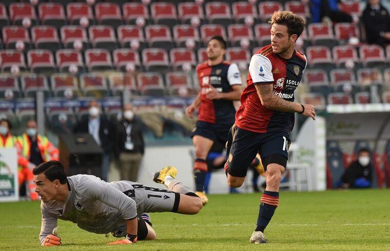 Nahitan Nandez segna il gol alla Sampdoria | Foto Alessandro Sanna