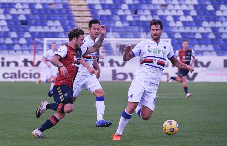 Nahitan Nandez contro la Sampdoria | Foto Emanuele Perrone