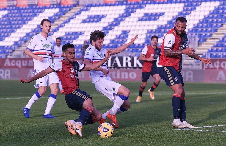 Adam Ounas contro la Sampdoria   Foto Emanuele Perrone