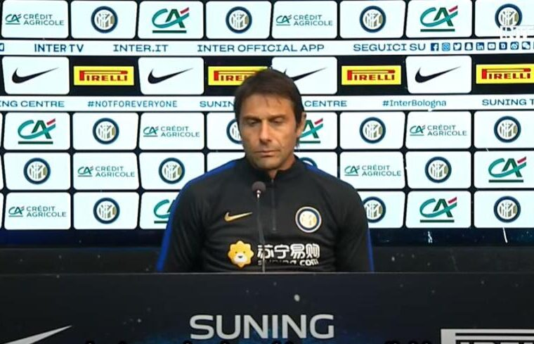 Antonio Conte in conferenza stampa