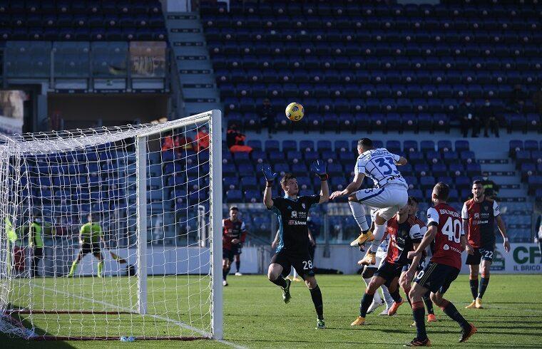 Il gol di D'Ambrosio dell' 1-2 | Foto Emanuele Perrone